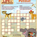 Disney Lion Guard Crossword Puzzle