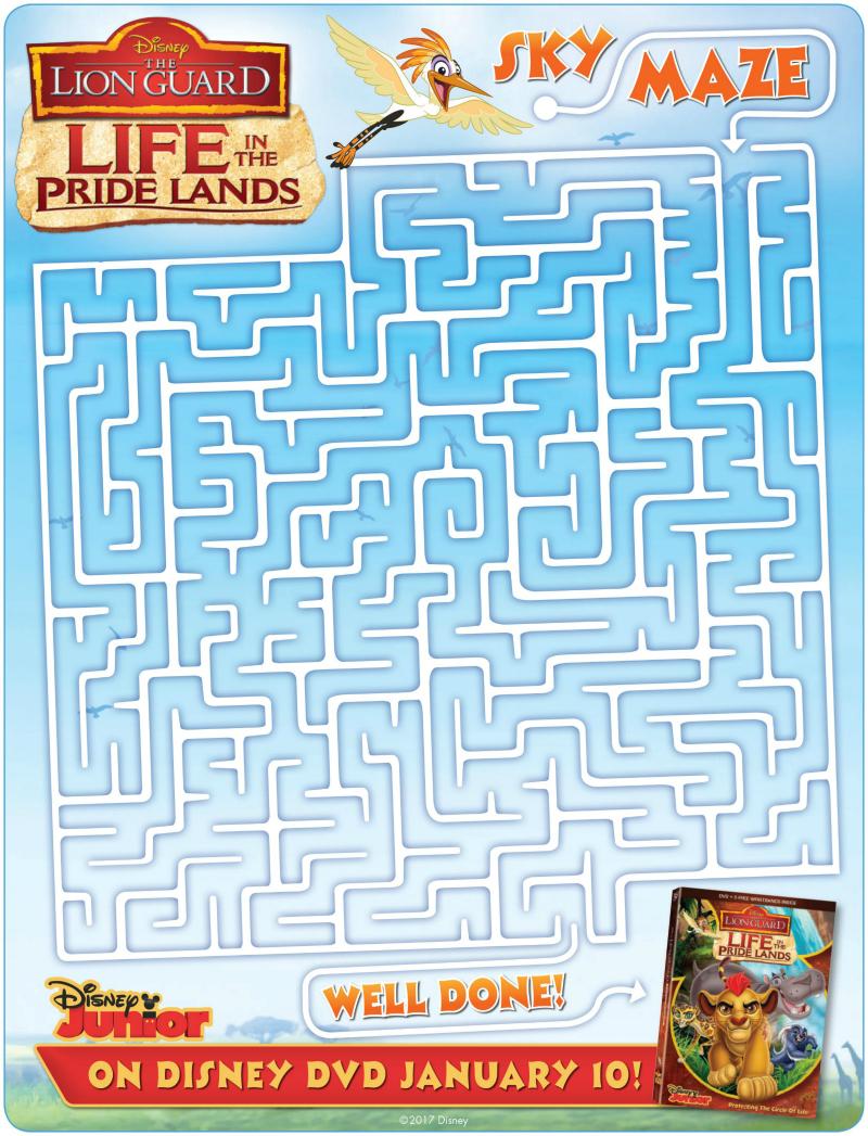 Disney Lion Guard Maze