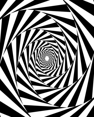Spiral Pattern Adult Coloring Page