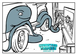 Monster Trucks Printable Coloring Page