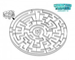 Monster Trucks Maze