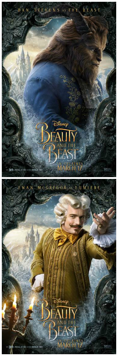 New Disney Beauty and The Beast Posters - See the Cast!