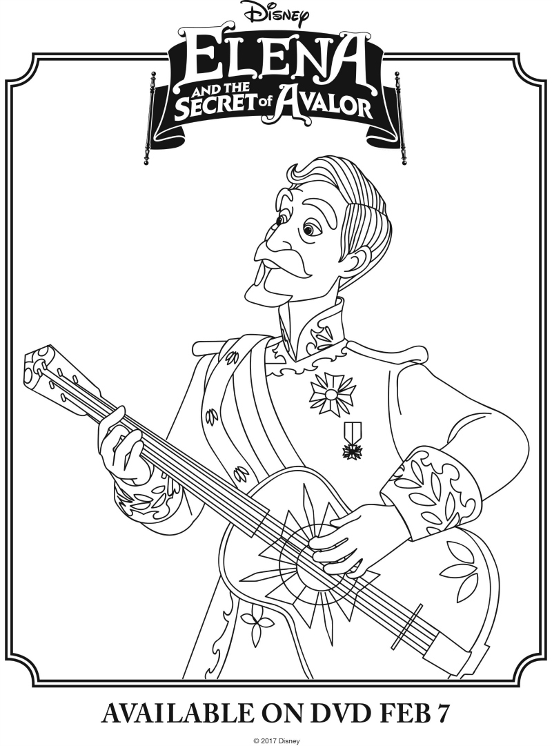 Disney Elena And The Secret of Avalor Coloring Page