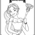 Disney Elena of Avalor Free Printable Coloring Page