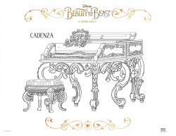 Disney Beauty and The Beast Cadenza Coloring Page