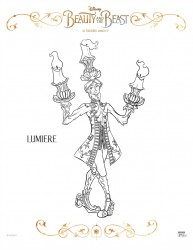 Disney Beauty And The Beast Lumiere Coloring Page