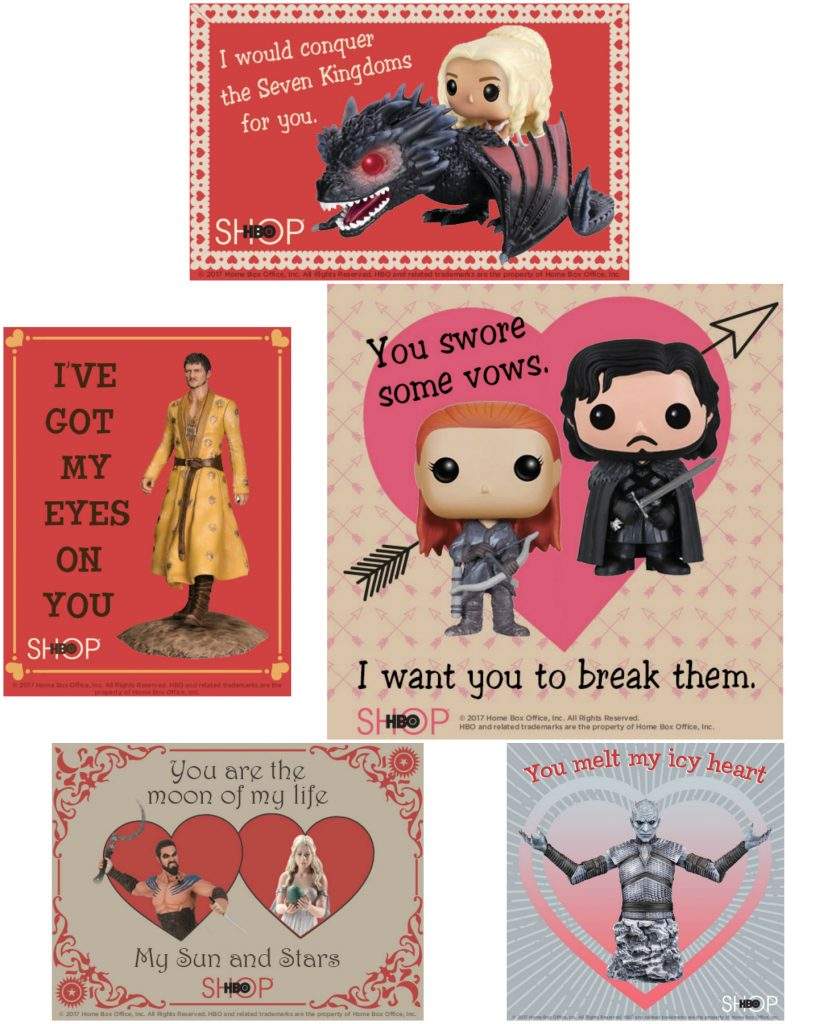free printable game of thrones valentines day cards  mama