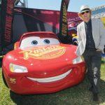 Owen Wilson (Lightening McQueen) at The Daytona 500