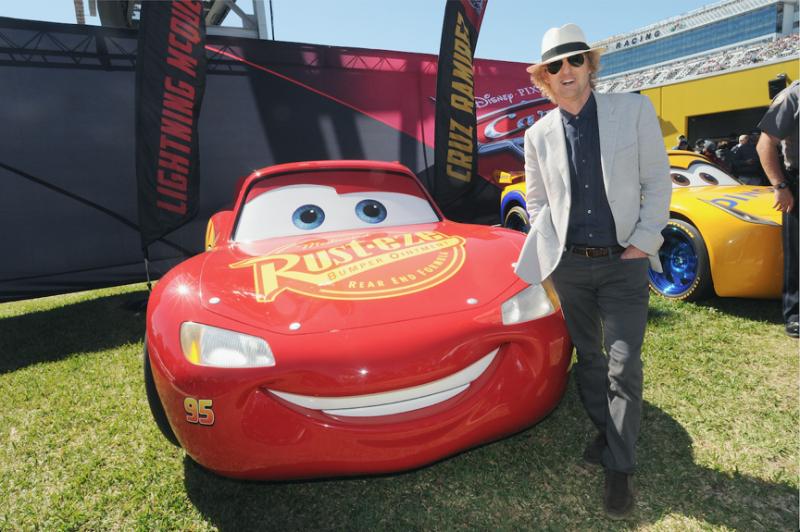 Owen Wilson (Lightening McQueen) at The Daytona 500 - Disney Cars 3