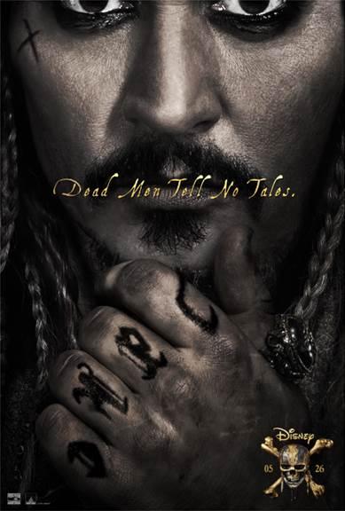 Johnny Depp in Disney Pirates of The Caribbean Dead Men Tell No Tales