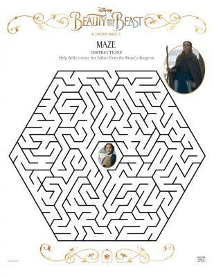 Disney Beauty and The Beast Maze