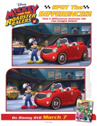 Disney Mickey and The Roadster Racers Spot The Difference Activity Page