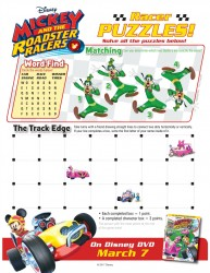 Disney Mickey and The Roadster Racers Puzzle Page