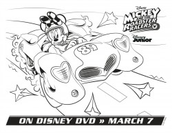 Disney Minnie Mouse Coloring Page