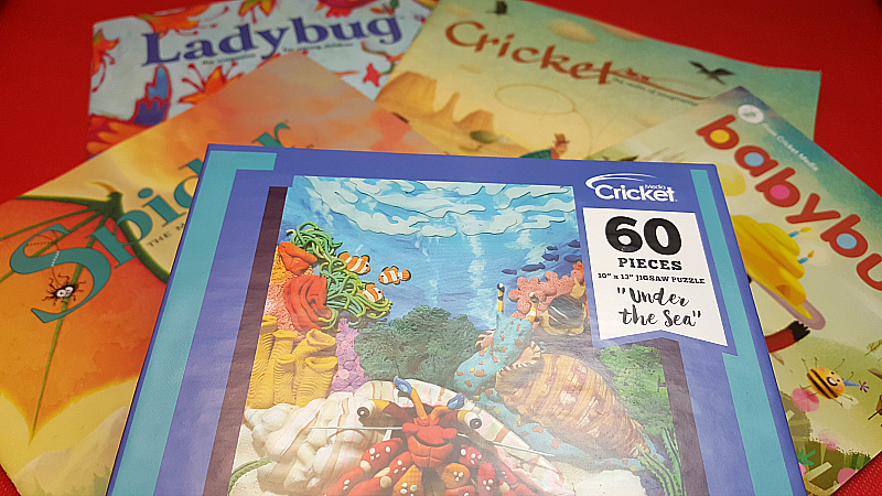 Jigsaw Puzzle and Cricket Magazine Subscription