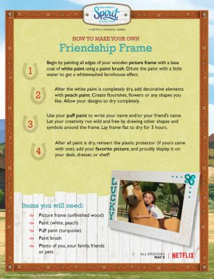 Spirit Riding Free Friendship Frame Craft