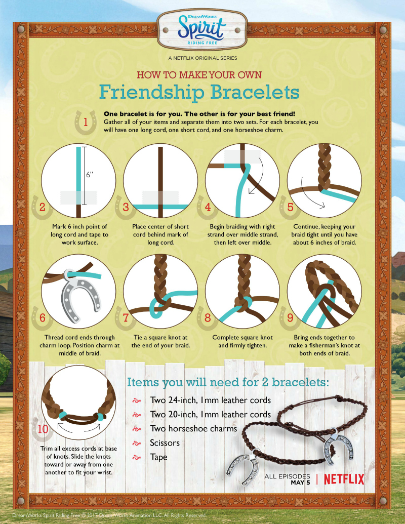Spirit Riding Free Friendship Bracelet Craft