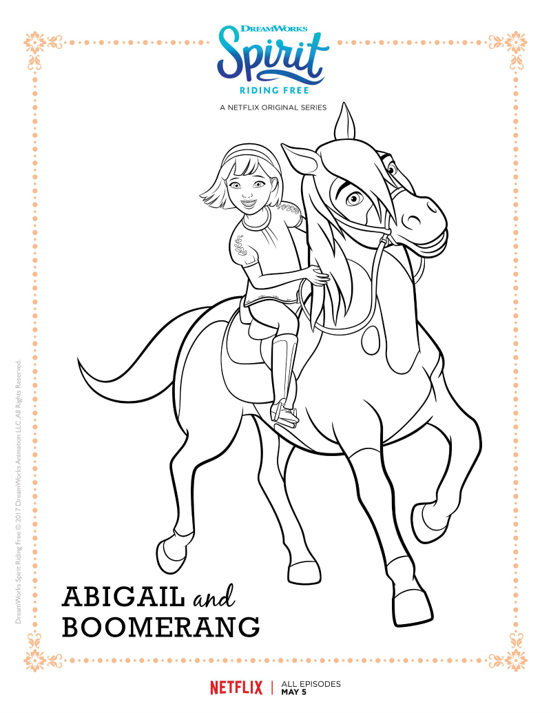 free horse coloring pages spirit - photo#36
