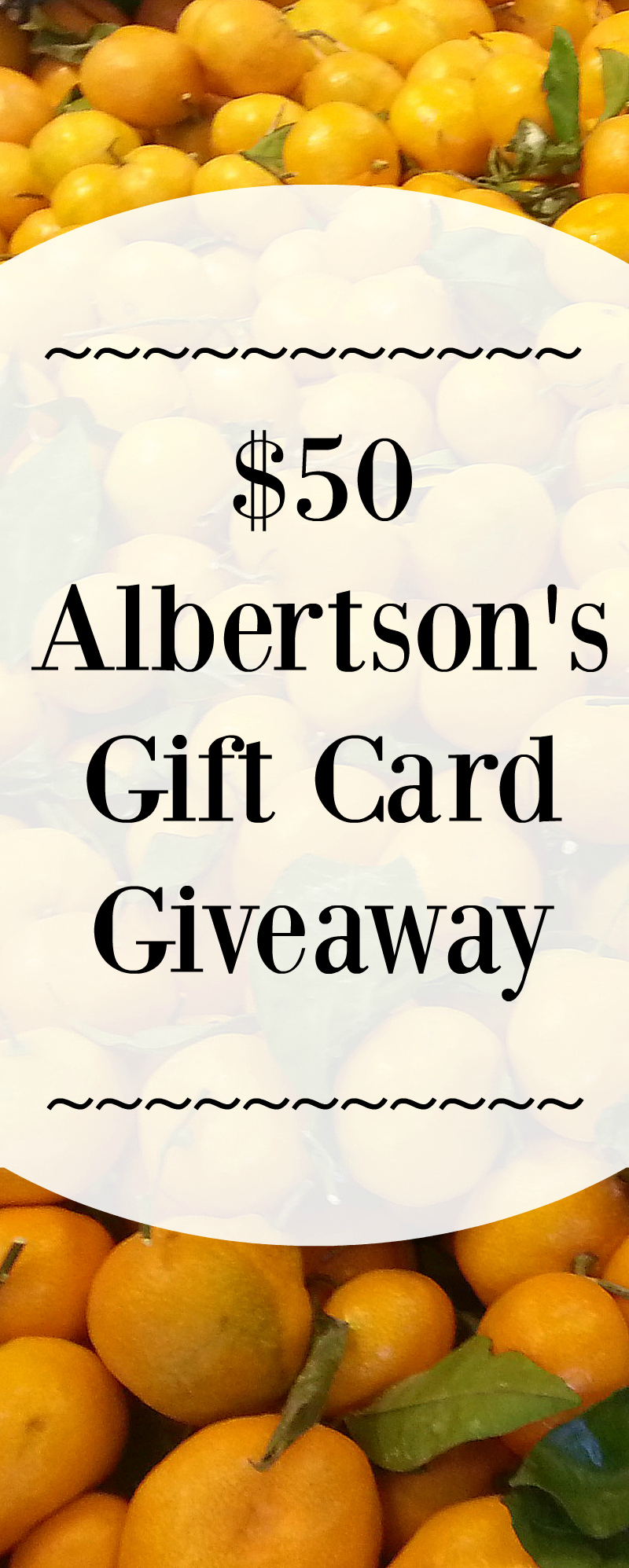 Albertson's Gift Card Giveaway