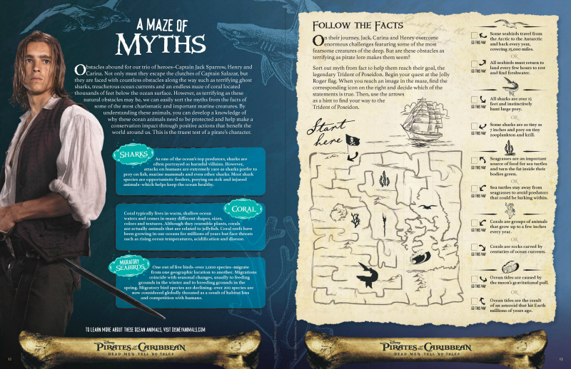 Free Printable Disney Pirates of The Caribbean Maze of Myths Puzzle Page