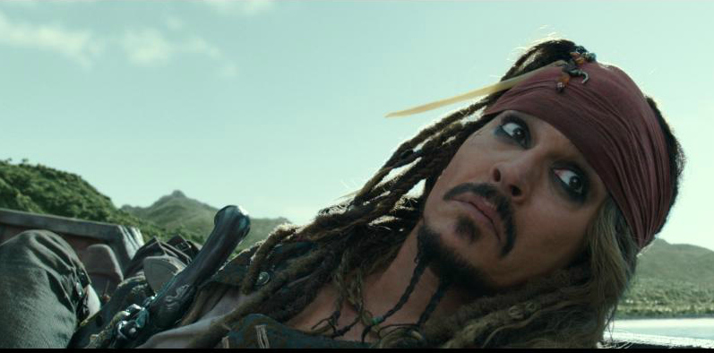 Johnny Depp in Pirates of The Caribbean Dead Men Tell No Tales
