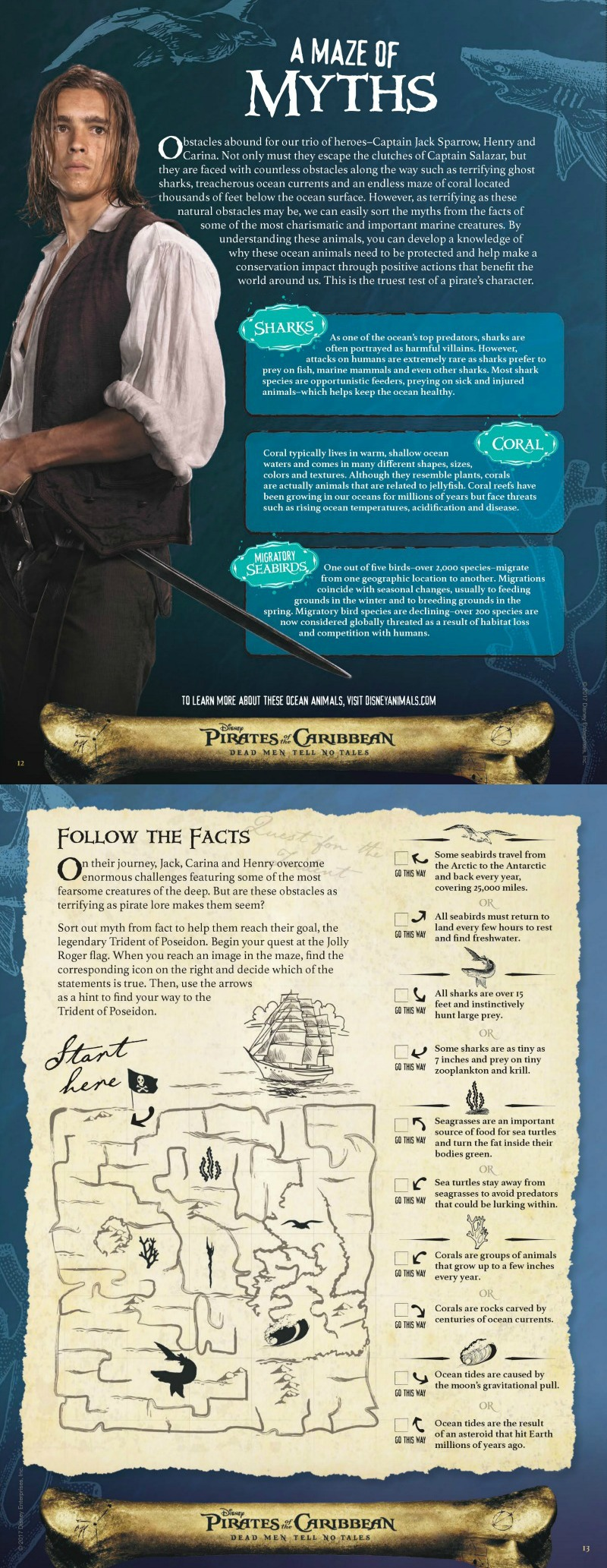 Free Printable Disney Pirates of The Caribbean Puzzle Page