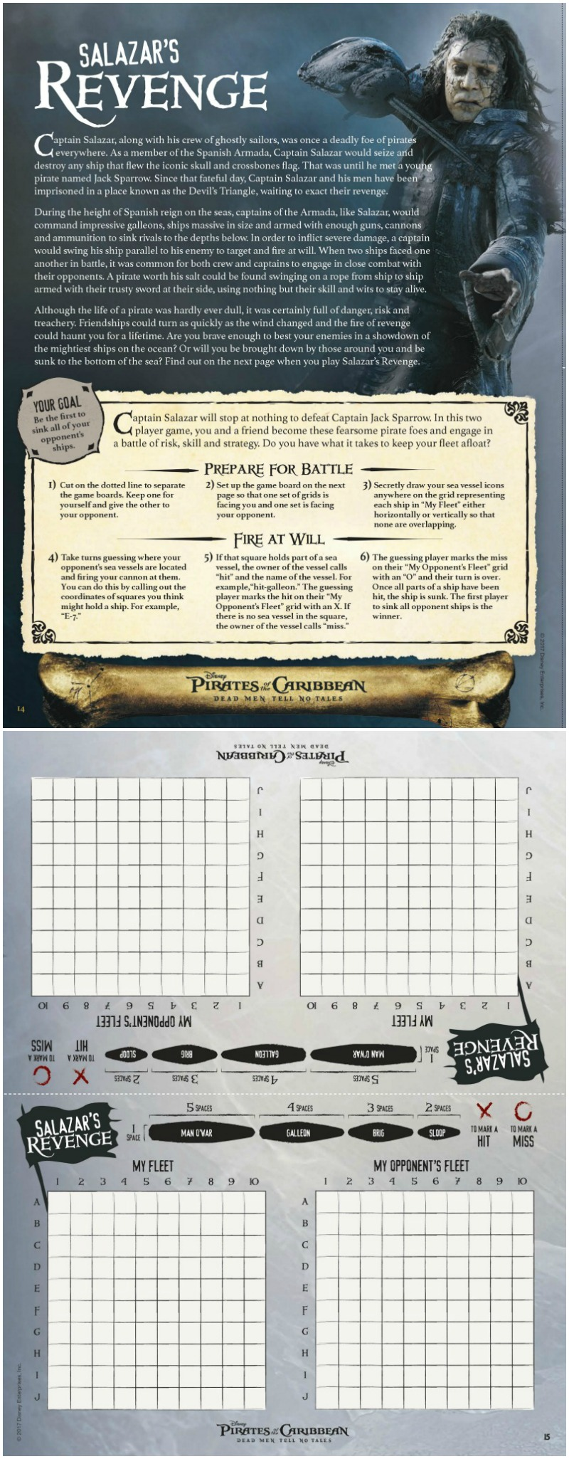 Free Printable Disney Pirates of The Caribbean Activity Page