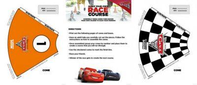 Disney Cars 3 Printable DIY Race Course Game
