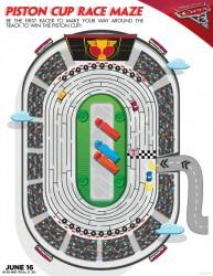 Disney Cars 3 Printable Piston Cup Maze