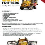 Disney Cars 3 Southern Corn Fritters Recipe