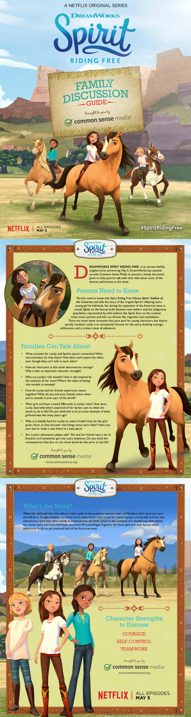 Free Printable Netflix Spirit Riding Free Family Discussion Guide