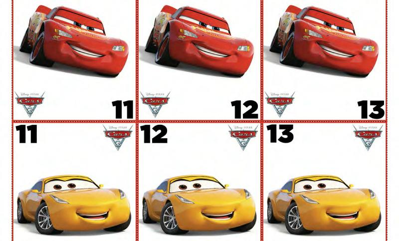 Free Disney Cars 3 Crazy 8 Card Game