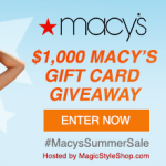 $100 Macy's Summer Sale Gift Card Giveaway – Ends 6/25/17