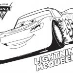 Disney Cars 3 Lightning McQueen Coloring Page