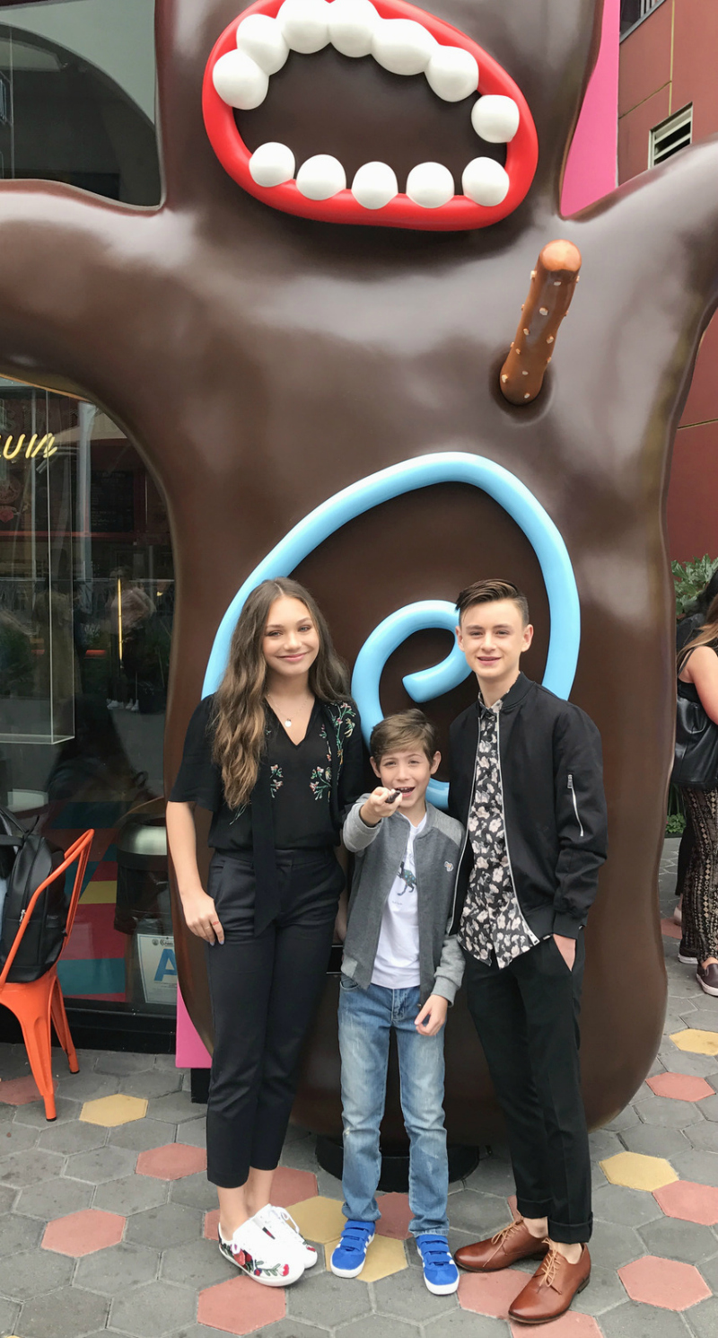 The Stars of THE BOOK OF HENRY, Maddie Ziegler, Jacob Tremblay, and Jaeden Liebeher