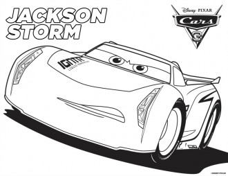 Disney Cars 3 Jackson Storm Coloring Page