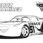 Disney Cars 3 Cruz Ramirez Coloring Page