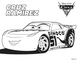 Disney Cars 3 Cruz Ramirez Coloring Page