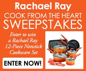 Rachael Ray Cookware Giveaway – Ends 9/4/17