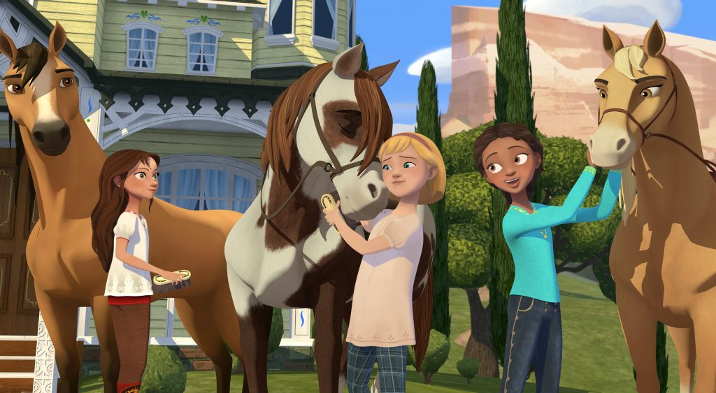 scene from spirit riding free show