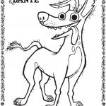 Free Disney Pixar Coco Dante Coloring Page