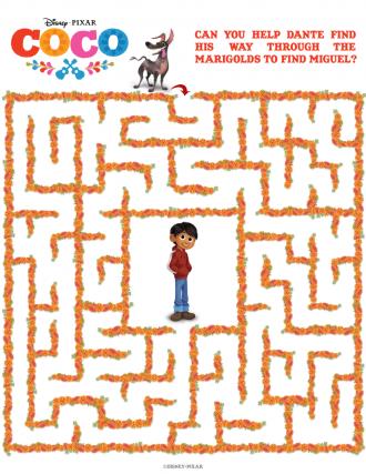 Free Disney Pixar Coco Maze