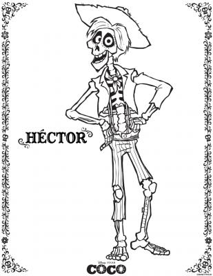 Free Disney Pixar Coco Hector Coloring Page