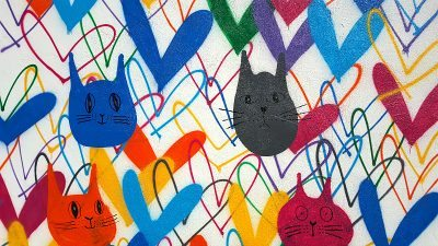 Fresh Step #LoveWall #CatLuv Mural by James Goldcrown