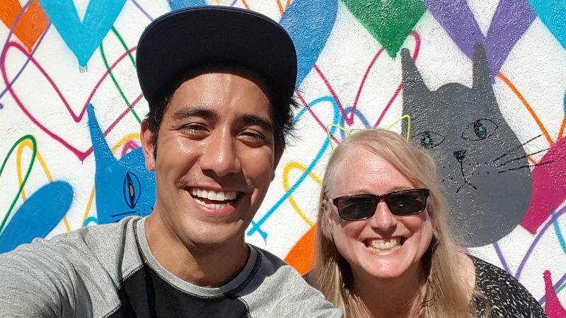 With Zach King at #CatLuv #LoveWall in Beverly Hills