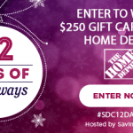 $250 Home Depot Gift Card Giveaway