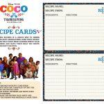 Free Printable Disney Coco Recipe Cards