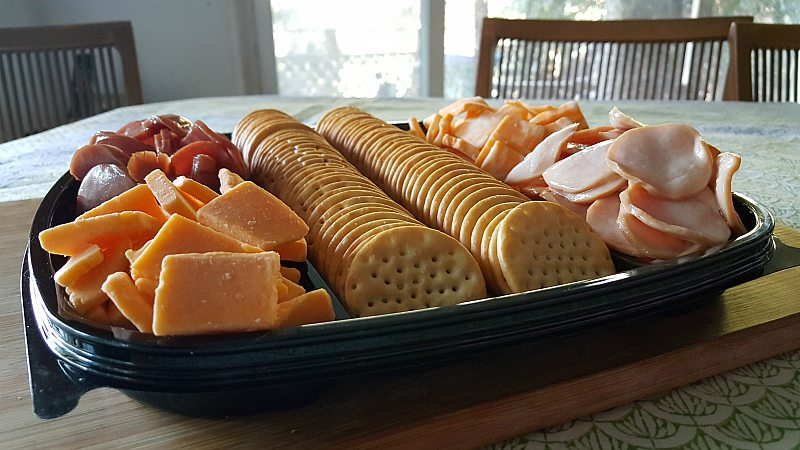 Hormel Gatherings Party Tray on The Table