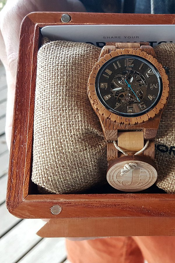 Jord Wood Watches - Men's Olive and Acacia Dover Watch