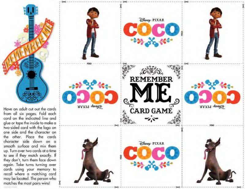 Disney Coco Game Free Memory Match Cards Mama Likes This